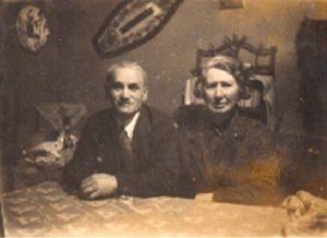 Фалк Борисович и Евгения Александровна Лесохины. 1946 г. Баку