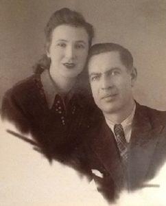 Вера и Маркус Грубман. Первый снимок после свадьбы. 1954 г.