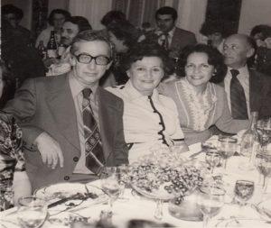 Абрам Гинзбург, его первая жена Адель Мартынова, Рена Гинзбург, Марк Гинзбург. Баку. 1978 г