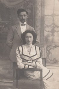 Иосиф Гинзбург с сестрой Славой Гинзбург-Златиной