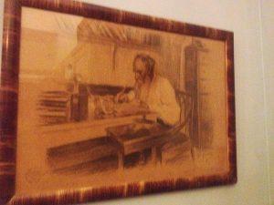 Л. Пастернак. Толстой за работой. 4.1.1912