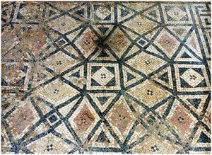 Фрагмент мозаики пола одной из комнат дворца