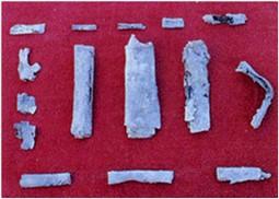 Дефиксионы и их фрагменты, найденные в Кейсарии