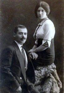 Лев Наумович Брук и Зинаида Евсеевна (1911г.)