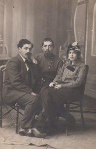 Лева, Володя, Маня (Мнухо) Брук. 1915 г.