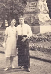 Абрам Кац и Нина Печковская в Кёнигсберге