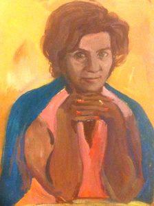 Портрет Юлии Нейман. Худ. Тамара Борисова-Кронгауз (внучка поэта С.Галкина, дочь поэта И.Борисова). 1972