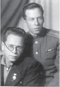 С братом Захаром. Москва, 1947 г.