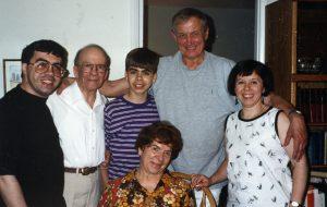 Евгений Евтушенко в гостях у моей семьи. Бетезда, Мэриленд, 1995 г.
