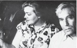 О. Ивинская и Б. Пастернак. Узкое, Московская область, 1958 г.