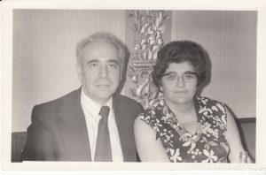 Григорий Карасик с женой Саррой Леви. 1978 г.