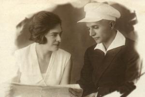 Мария Александровна Земан-Алиева и Гамбай Аскерович Ализаде. 1936 г