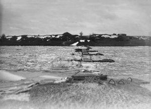 Ледоход на реке Случь в с.Гульск, начало 1980-х годов