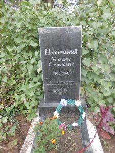 Памятник на могиле М.С.Невинчаного на кладбище в с. Гульск