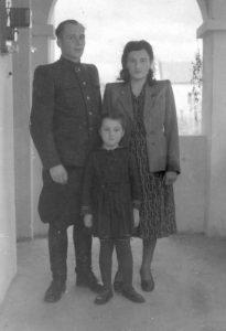 Фёдор, Софья и Людмила Мельники. Ужгород, 1950г.