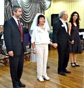 50-летие свадьбы родителей (сын Игорь, мама, папа и Лера, 2011)