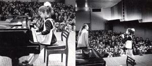 На концерте в Челябинске. Лере 8 лет. Она играет на фортепиано и на флейте