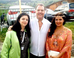 С Анной Нетребко и Брином Терфелем (британский оперный певец)
