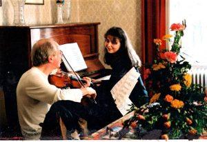 С Гидоном Кремером перед одним из их совместных выступлений