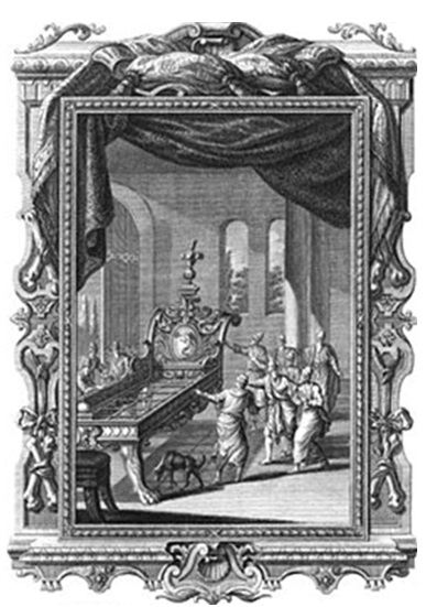 Одр железный Ога. Гравюра Иоганна Балтазара Пробста (1673-1750).