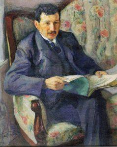 Леонид Пастернак. Портрет Энгеля, 1910