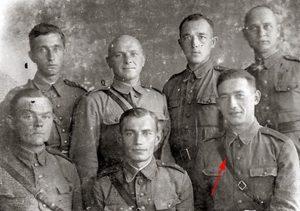 Феликс Беатус с однополчанами