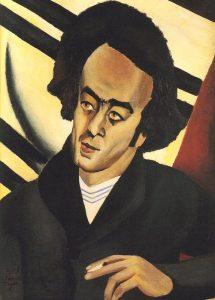 Авраам Шленский. Худ. Циона Таджер, 1925 Портрет сделан в Париже в период, когда Циона изучала модернистские направления в живописи