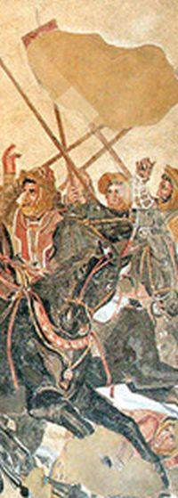 н же на длинном копье на поврежденной «Александровой мозаике»