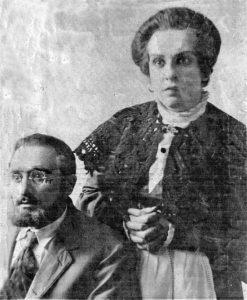 Иосиф Миндлин (Давид Шапиро) и Софья Иоффе в роли его жены в спектакле «Кровавая шутка». Бакинский ГОСЕТ, 1939 г. Личный архив Ф. Миндлина