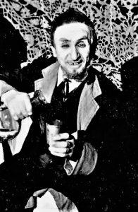 И.М. Миндлин в роли бадхена Бера. Спектакль Одесского передвижного еврейского театра «Фрейлехс». 1948 г.Личный архив Ф. Миндлина