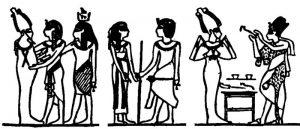 Роспись северной стены гробницы Тутанхамона [Steindorff, 1938, табл. 116]