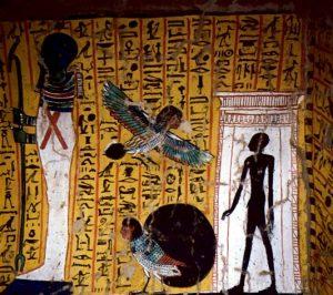 Гробница Ири-нефера: погребальная камера, виньетка 92 главы «Книги мертвых».