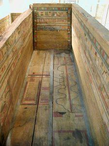 Карта загробного мира из саркофага Гуа, найденного недалеко от Эль-Берше