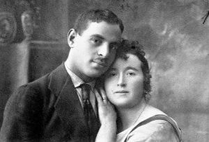 Е.Бугова́я с мужем, комиссаром Буговы́м. 1921г.