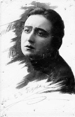 Артистка Е.Бугова. Киев, 1922г.