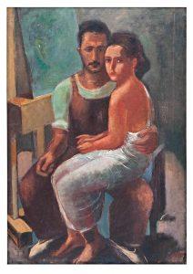Гутман Н. Автопортрет с Дорой, 1932