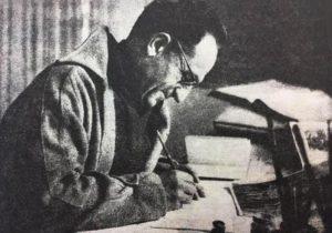 Нахум Гутман за работой, 1978