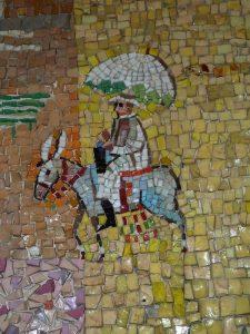 Гутман Н. Врач на ослике (Д-р Х.Хисн) ― фрагмент мозаики в Мигдал Шалом, в Т-А