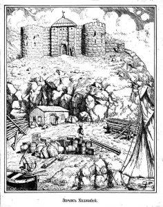 Крепость Эни-Дунья (Хаджибей). Старинная гравюра