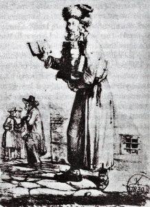 «Еврейский продавец книг». Художник К. Кукявичюс, 1839 год