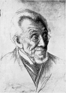 Менделе Мойхер-Сфорим. Рисунок из экспозиции музея писателя. Одесса
