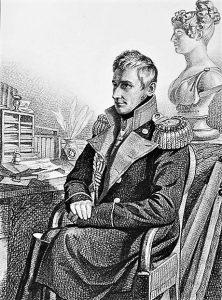 Граф М. С. Воронцов. Рисунок К. Гампельна. 1820-е гг.