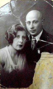 Яков Хацкелевич Темкин с женой Ревеккой Ароновной Липницкой (1934, Николаев)