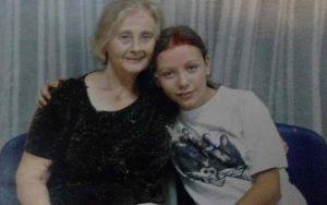 Арнесса Яковлевна Полоцкая (Темкина) с внучкой Даниэли (Дашей), Иерусалим, 2007г.
