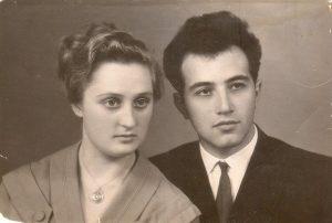 Леонид Абрамский с женой Алисой Дороженко, Одесса, 1958 г.