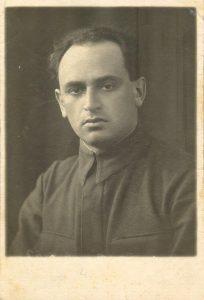 Израиль Яковлевич Абрамский, сын Любови Марковны Либерман-Абрамской, отец Леонида Абрамского, 1941 г.