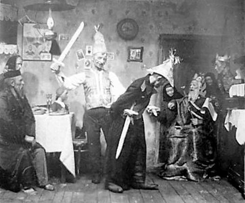 «Пуримшпиль». — Фото конца 19 века.