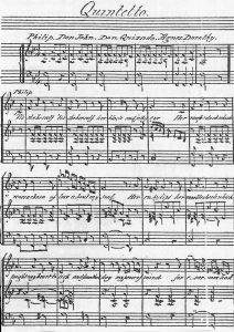 Рукопись И.Натана. Квинтет из оперы «Дон Джон из Австрии». Первая австралийская опера (1847)