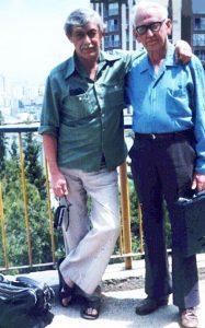Шломо Эвен-Шошан с писателем Виктором Некрасовым, любимейшим из своих друзей