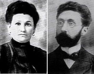 Хаим Давид Розенштейн (1871–1934) и его жена Рушка Финкель-Розенштейн (?-1944)